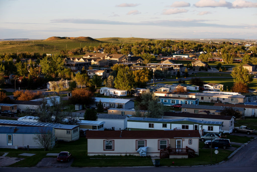 achieving the american dream depend on where you live  a view of the gillette wyoming u s suburbs is seen from overlook park
