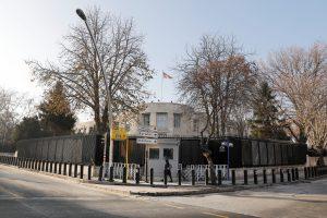 General view of the U.S. Embassy in Ankara