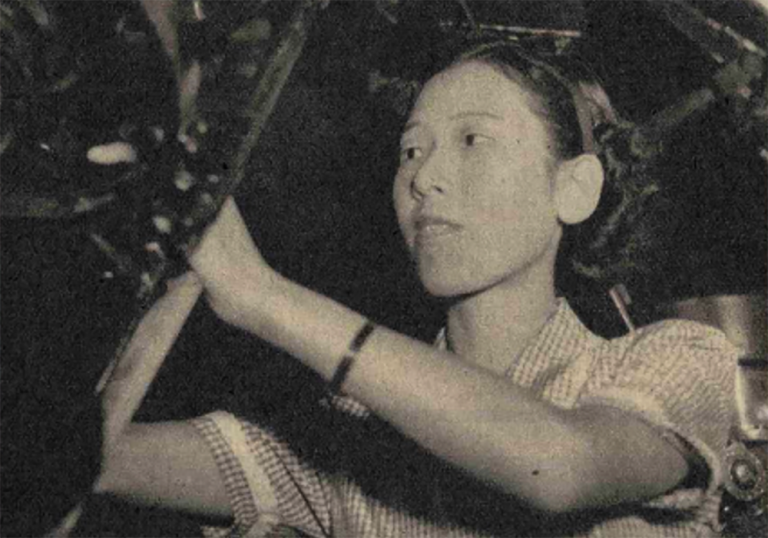A 20-centimeter telescope at the National Museum of Nature and Science, Tokyo was Hisako Koyama's go-to instrument for watching sunspots. Image by Asahigraph, 1951