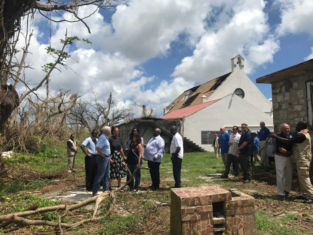 Vice President Mike Pence meets with victims in St. Croix