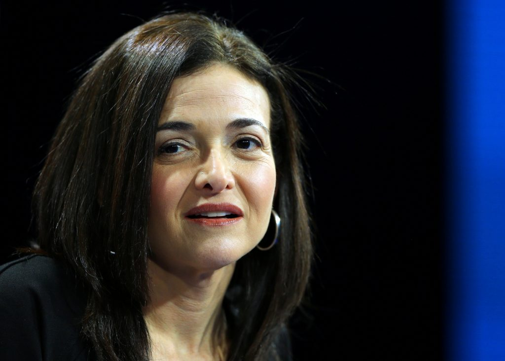Sheryl Sandberg, Chief Operating Officer of Facebook speaks at the WSJD Live conference in Laguna, California. Photo by Mi...