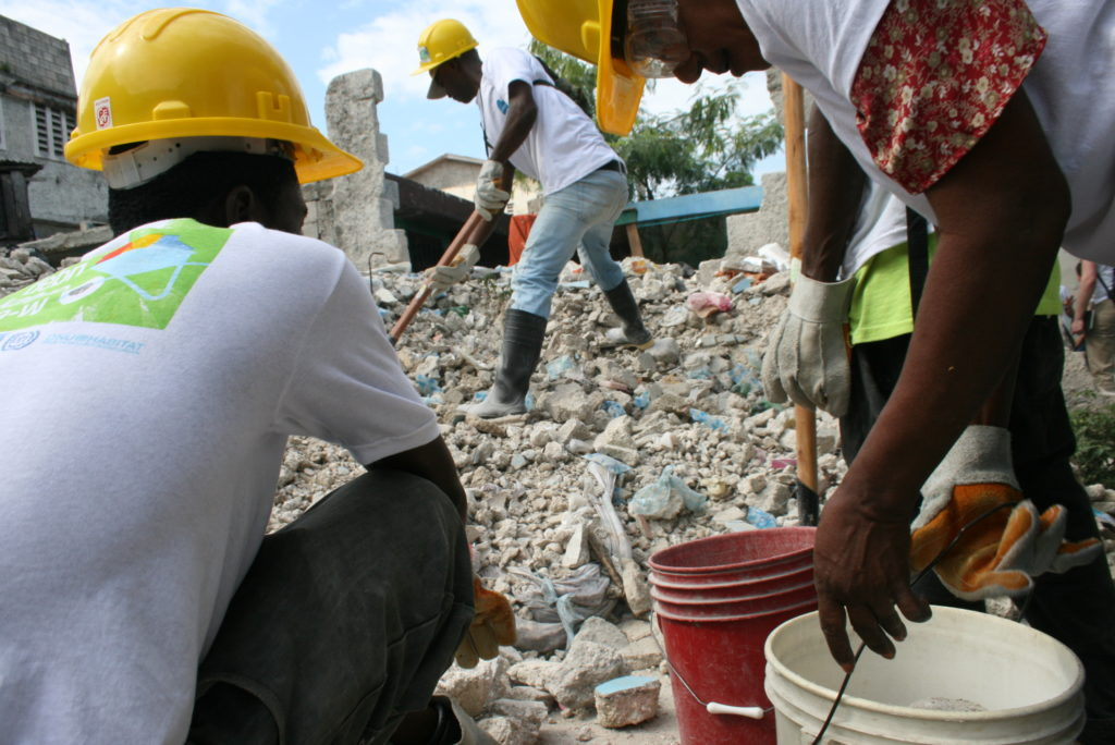 Debris removal team in the Bel Air neighborhood of Port-au-Prince. Photos by Larisa Epatko