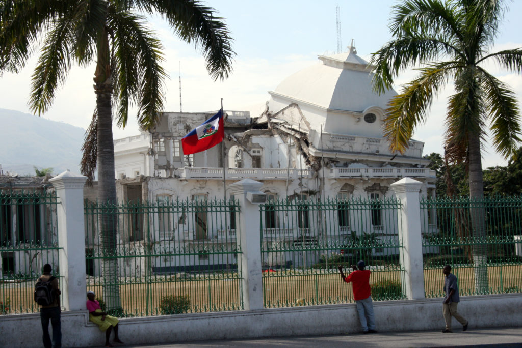 The presidential palace in Port-au-Prince was severely damaged in the Jan. 12, 2010 earthquake. Photo by Larisa Epatko
