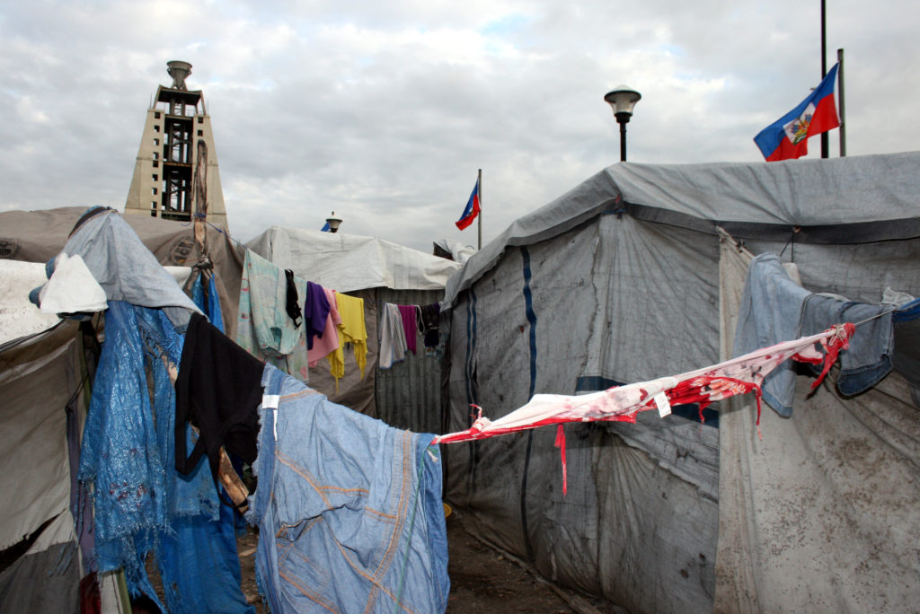 Since the earthquake, many Haitians are living in a tent camp in the capital city Port-au-Prince. Photo by Larisa Epatko