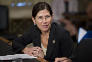 Rep. Mary Bono Mack, R-Calif., testifies at a Senate hearing in 2012. Photo By Tom Williams/CQ Roll Call