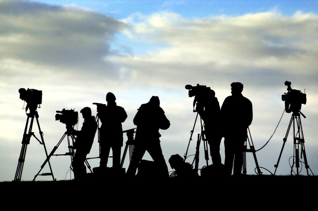 The media gather to overlook Barlinnie prison in Glasgow, which is ready to take charge of Adbel Baset Ali Mohamed Al Megrahi the terrorist who blew PanAm flight 103 from the sky above Lockerbie, killing 270 people. (Photo by David Cheskin - PA Images/PA Images via Getty Images)