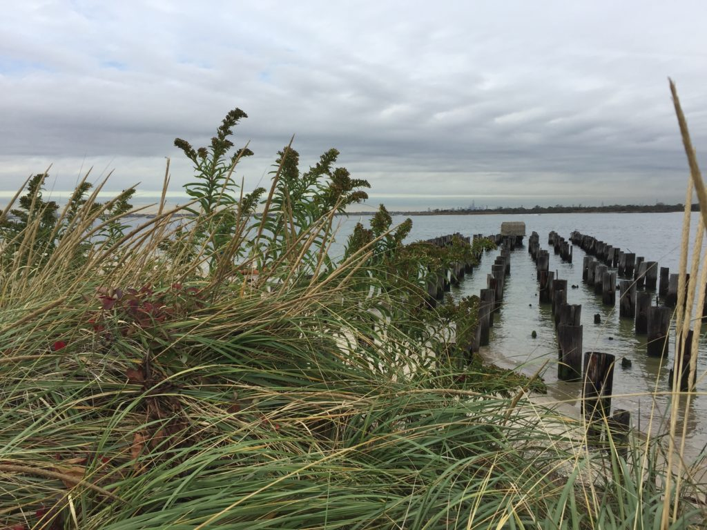 The entrance to Jamaica Bay on the western end of the Rockaways is a choke point for flood waters. The Army Corp of Engineers is developing a plan to build a deployable wall to mitigate risk. Photo by Andrew J. Bossone