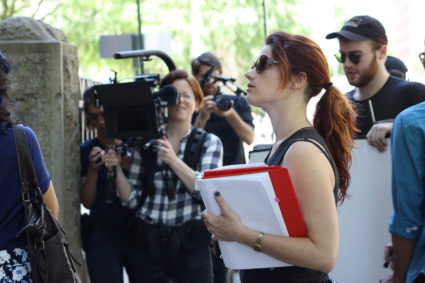 """Filmmaker Jessica Thompson on the set of """"The Light of the Moon,"""" on life after a sexual assault, which is out in select theaters this week. Credit: Kayla Davidson"""