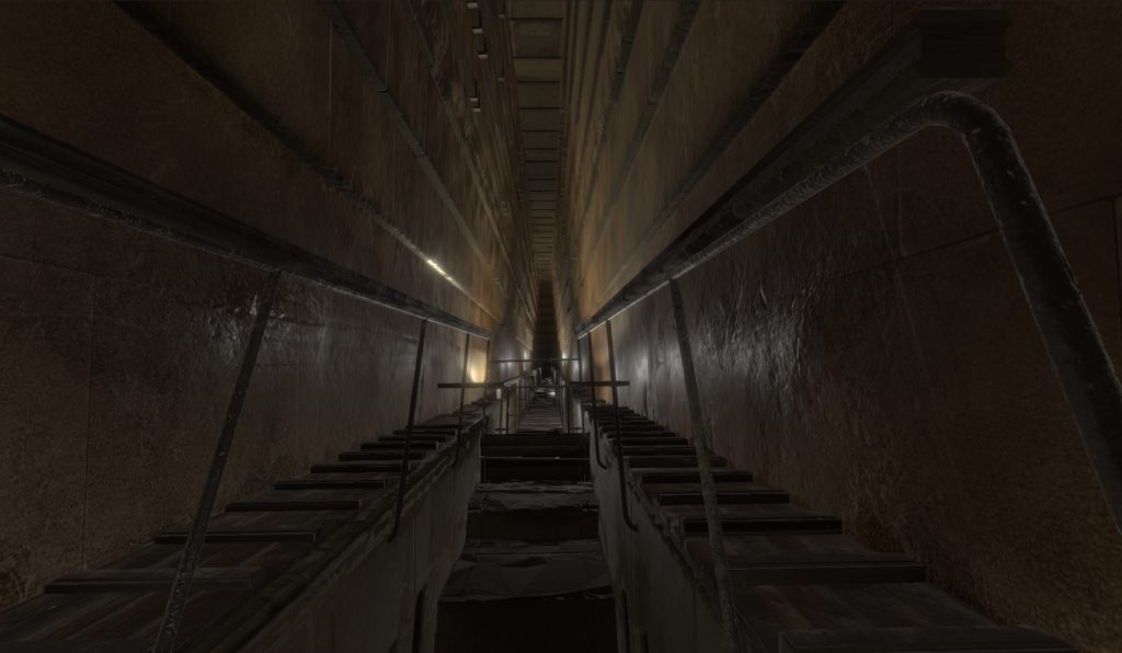 Inside the known Grand Gallery, the pathway between the Queen and King chambers. Photo by the ScanPyramids mission