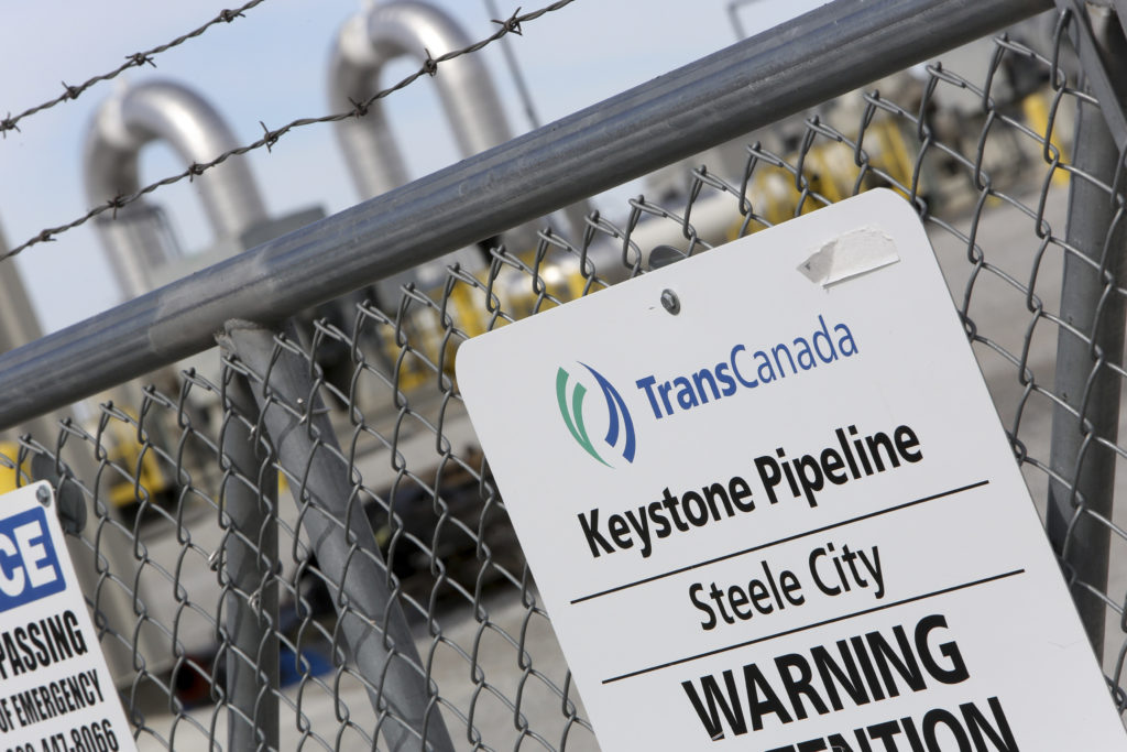 A TransCanada Keystone Pipeline pump station operates outside Steele City, Nebraska. Photo by Lane Hickenbottom/Reuters