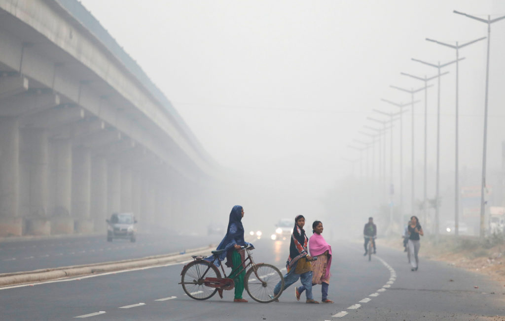 Pollution readings in Delhi hit the most severe level on the government's air quality index this week. Photo by Saumya Khandelwal/Reuters