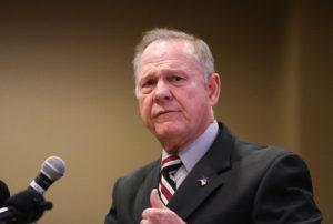 Judge Roy Moore participates in the Mid-Alabama Republican Club's Veterans Day Program in Vestavia Hills, Alabama, U.S., November 11, 2017. REUTERS/Marvin Gentry - RC17037DC8F0