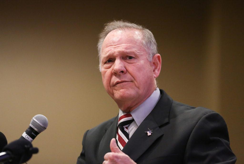 Judge Roy Moore participates in the Mid-Alabama Republican Club's Veterans Day Program in Vestavia Hills
