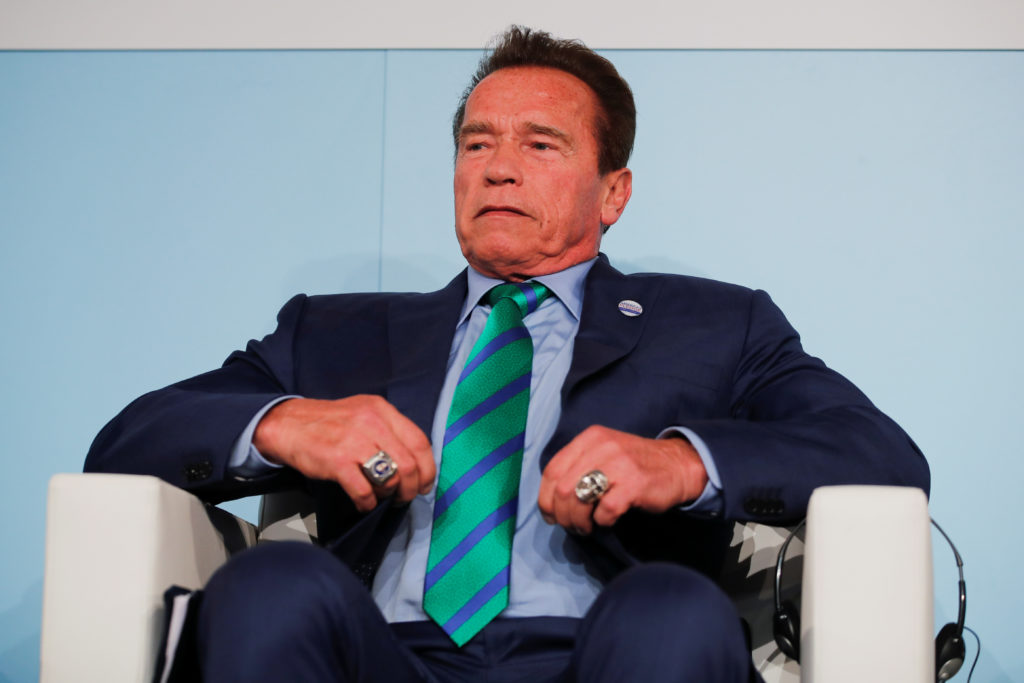 Former California governor and 'Mr. Universe' Arnold Schwarzenegger attends the COP23 UN Climate Change Conference 2017, h...