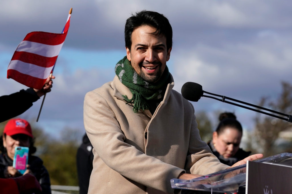 Actor, composer and playwright Lin-Manuel Miranda participates in t…