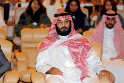 Saudi Crown Prince Mohammed bin Salman attends a conference in Riyadh, Saudi Arabia on Oct. 24. Photo by Hamad I Mohammed/Reuters