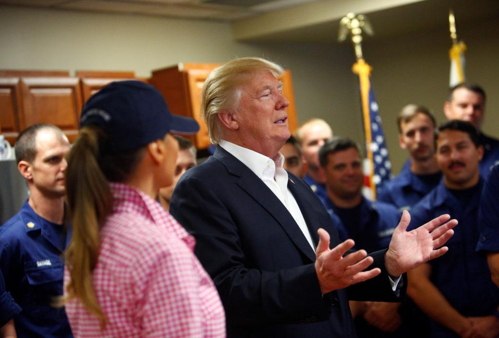 U.S. President Donald Trump and First Lady Melania Trump visit U.S. Coast Guard Station Lake Worth Inlet in Riviera Beach, Florida, U.S., November 23, 2017. REUTERS/Eric Thayer