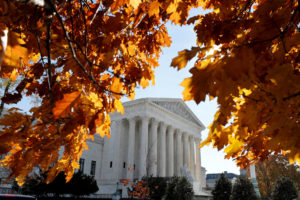 The Supreme Court seen in Washington, D.C. Photo by Yuri Gripas/Reuters