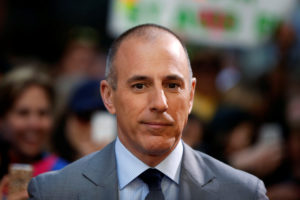 "FILE PHOTO: Host Matt Lauer pauses during a break while filming NBC's ""Today"" show at Rockefeller Center in New York, U.S., May 3, 2013. Photo by Lucas Jackson/Reuters"