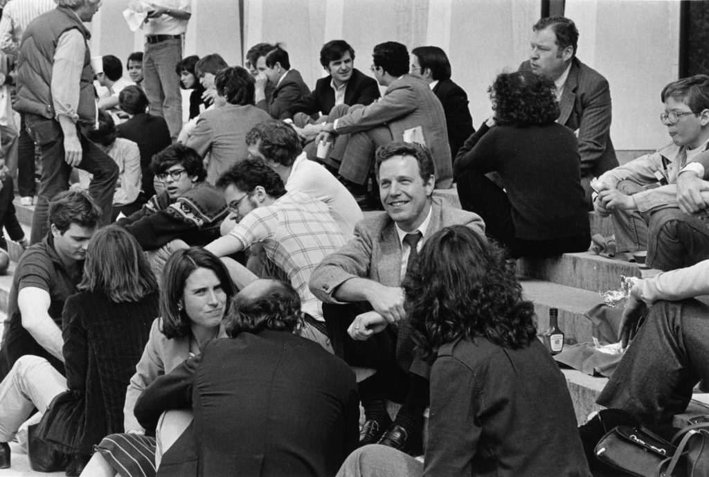Uwe Reinhardt, seen here early in his career at Princeton University, was a leading voice on health care economics. Photo courtesy of the Woodrow Wilson School of Public and International Affairs.