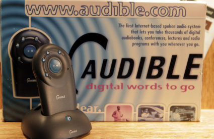 Amazon's Audible released the first portable digital audio player for audio books in 1997. Photo courtesy of Audible