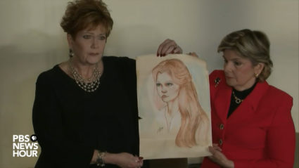 Beverly Young Nelson, left, said Monday that as a teenager in the 1970s she was sexually assaulted by Roy Moore in a locked car.