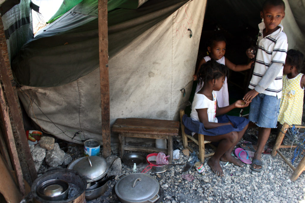 Children in the Champs de Mars tent camp in Port-au-Prince, Haiti. Photo by Larisa Epatko