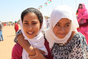 Two friends roam the Dakhla refugee camp in Algeria. Photo by Larisa Epatko