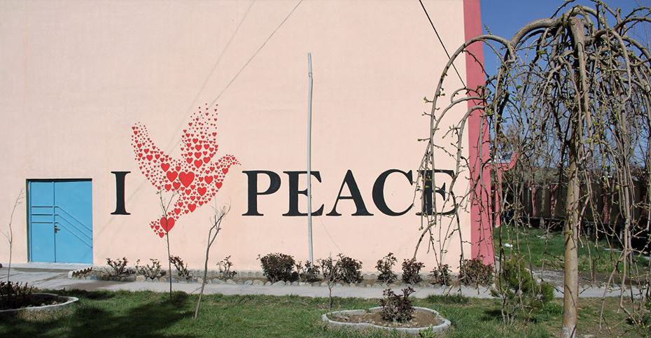 Murals promote a message of peace and healing in a battle-scarred Afghanistan. Photo courtesy of ArtLords