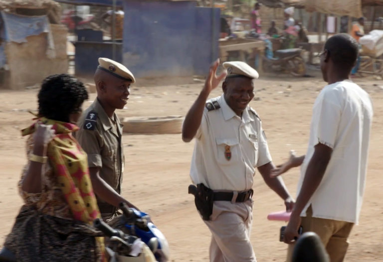 "Screen image from ""Saaba"" documentary about efforts in Burkina Faso to improve security"