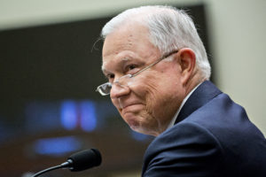 Jeff Sessions, U.S. attorney general, smiles during a House Judiciary Committee hearing in Washington, D.C., U.S., on Tuesday, Nov. 14, 2017. Sessions denied he lied or misled Congress about contacts with Russia by people involved in Donald Trump's presidential campaign. Photographer: Andrew Harrer/Bloomberg via Getty Images
