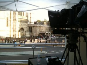 Camera position outside Westminster Abbey. Photo by Craig Johnston/CNN
