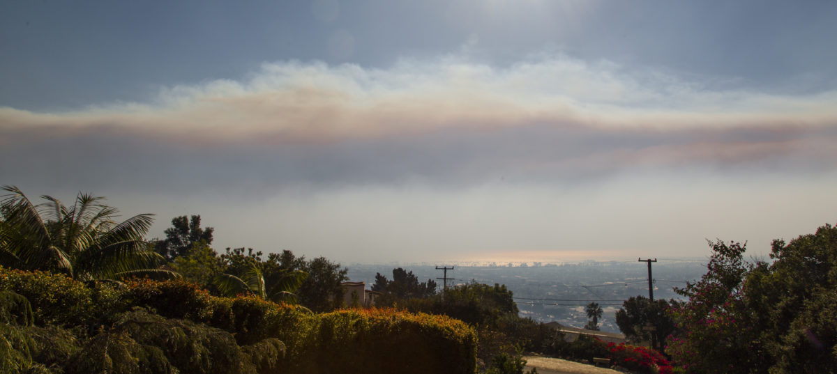 Smoke from the Thomas Fire, viewed from Santa Barbara on Dec. 5, 2017. Photo by Doc Searls/Flickr