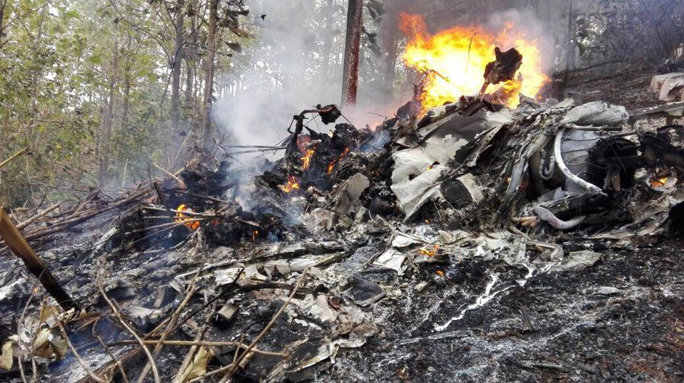 Wreckage from a Nature Flight airplane crash in Costa Rica. Photo by Costa Rican Ministry of Public Security