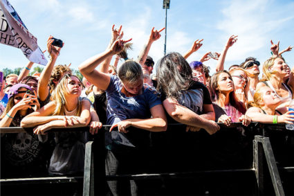 Fans attend the Vans Warped Tour at White River Amphitheatre on August 12, 2016 in Auburn, Washington. (Photo by Suzi Pratt/WireImage)