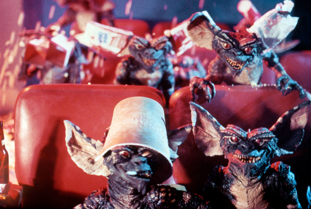 On the set of Gremlins, directed by Joe Dante. Photo by Warner Bros…