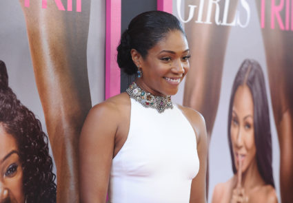 "Actress Tiffany Haddish attends the July premiere of ""Girls Trip"" at Regal LA Live Stadium 14 in Los Angeles, California. Photo by Jason LaVeris/FilmMagic"