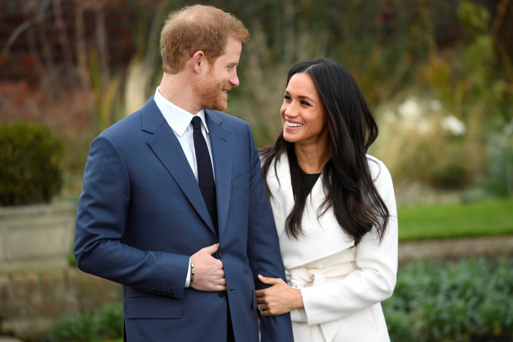 Britain's Prince Harry and Meghan Markle announce their engagement at Kensington Palace in London on Nov. 27. Photo by Toby Melville/Reuters