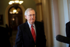 File photo of Senate Majority Leader Mitch McConnell, R-Ky., by James Lawler Duggan/Reuters