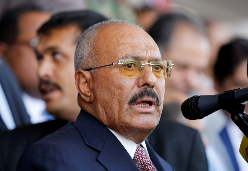 Yemen's former President Ali Abdullah Saleh was killed on Dec. 4 by Houthi rebels after switching alliances to Saudi Arabia. File photo by Khaled Abdullah/Reuters
