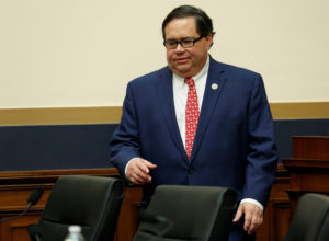 Rep. Blake Farenthold arrives before Deputy U.S. Attorney General Rod Rosenstein testifies to the House Judiciary Committee hearing on oversight of the Justice Department on Capitol Hill in Washington, D.C. Photo by Joshua Roberts/Reuters