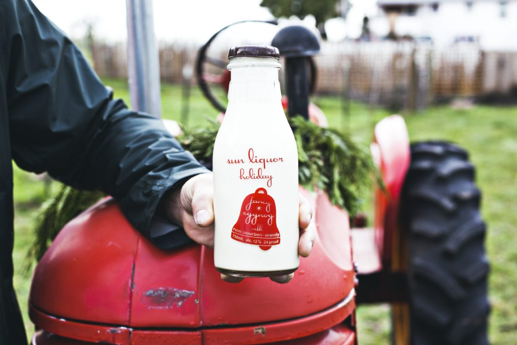 Sun Liquor also bottles its traditional eggnog. Here's how it's made.  Photo by Andrea Chapman, Sun Liquor.