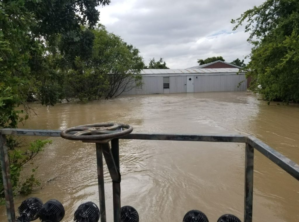 Greg Moss's flooded home after Harvey
