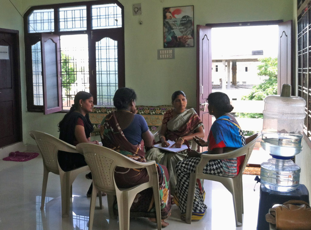 Operation PeaceMaker trains local counselors to deal with domestic abuse cases within families in India. Photo courtesy of My Choices Foundation
