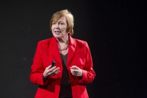 Dr. Brenda Fitzgerald at a 2014 TEDx Atlanta event. Photo by Mark Hill\TBS