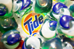 Procter & Gamble Co. Tide Pods brand laundry detergent is arranged for a photograph in Tiskilwa, Illinois, U.S., on Monday, Jan. 22, 2018. Procter & Gamble is scheduled to report quarterly earnings on January 23. Photographer: Daniel Acker/Bloomberg via Getty Images