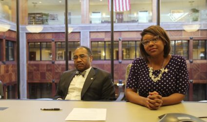 Sen. Vernon Sykes and Rep. Emilia Sykes. Photo by Kamala Kelkar