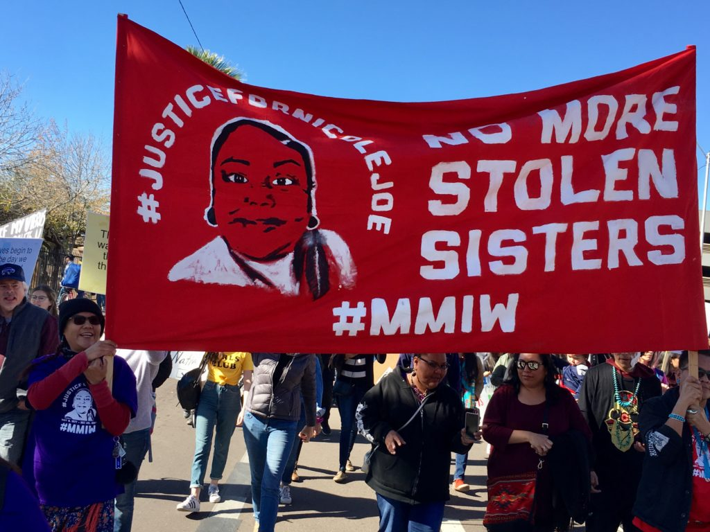 At Women's Marches, a spotlight on missing and murdered Indigenous