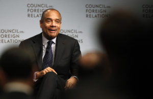 Chairman and CEO of American Express Company Kenneth Chenault speaks to the Council on Foreign Relations in December 2011. Photo by Mike Segar/Reuters