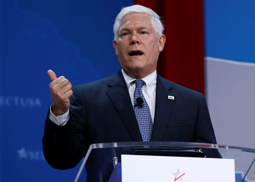 Rep. Pete Sessions (R-TX) speaks at 2017 SelectUSA Investment Summit in Oxon Hill, Maryland, U.S., June 19, 2017.   REUTERS/Joshua Roberts - RC14F7345BE0